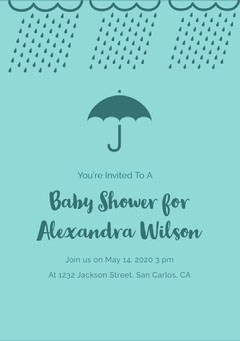 Blue and Navy Blue Baby Shower Invitation Baby Shower (Boy)