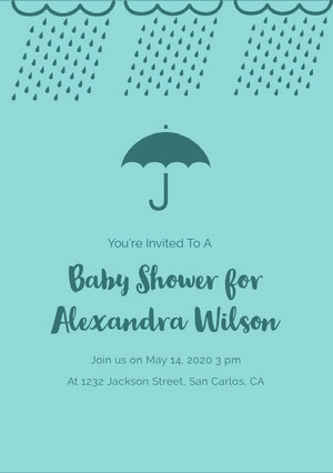 Baby Shower for Alexandra Wilson  Baby Shower Thank You Card