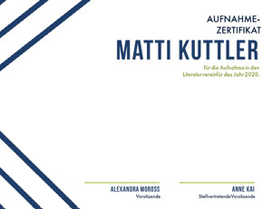 Matti Kuttler Diplomurkunde