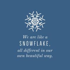 Snowflake Quote Winter Instagram Square Winter