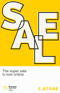 White and Yellow Super Sale Poster Sale Flyer