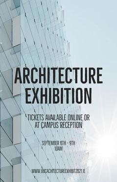 Grey Glass Graduate Architecture Exhibition Poster Architecture