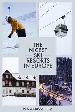 Light Toned, Collage, Ski Resorts List, Pinterest Post Winter