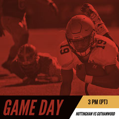 Red, Black and Yellow Game Day Ad Instagram Post Football