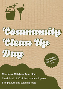Green Community Clean Up Flyer A5 Cleaning Service