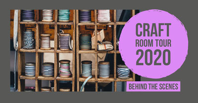 Purple and Light Toned, Craft Room Tour, Facebook Banner Tamaño de Imagen de Facebook