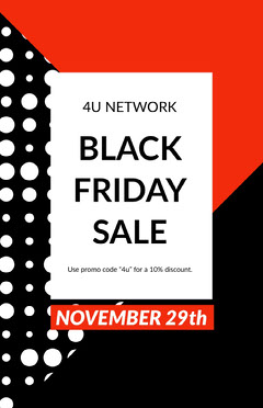Black Friday Sale Poster Thanksgiving Sale