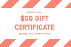$50 GIFT <BR>CERTIFICATE Holiday