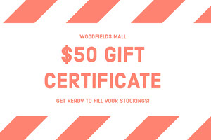 Orange Christmas Mall Gift Certificate Coupon Bon