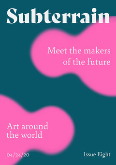 Teal and Pink Abstract Shapes Art Exhibition Poster Teal