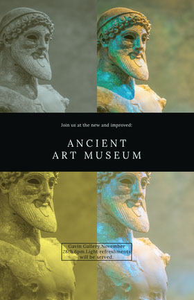 ANCIENT ART MUSEUM Folleto de invitación a evento