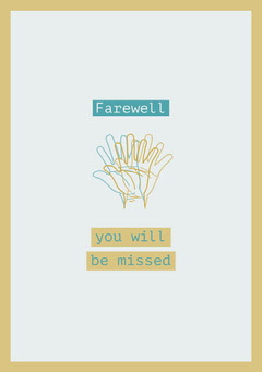 Yellow and Blue Farewell Card Farewell