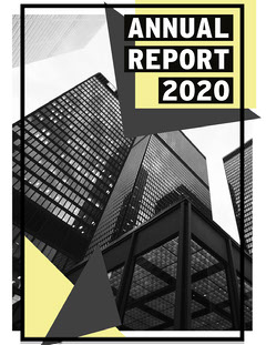 Grey And Yellow High Rise Building Annual Report Letter Architecture