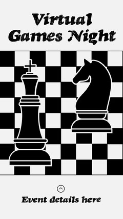 Black & White Games Night Instagram Story Game Night Flyer