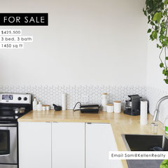Modern Kitchen Interior Photo Real Estate Agency House for Sale Instagram Square Ad House For Sale Flyer