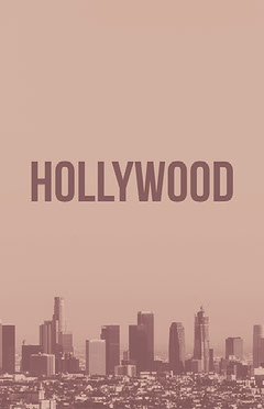 Beige and Purple Hollywood Travel Ad Instagram Post California