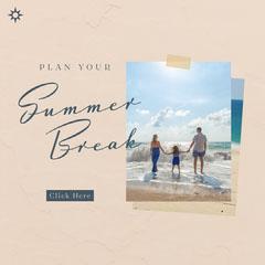 Plan Your Summer Break Instagram Square Beach