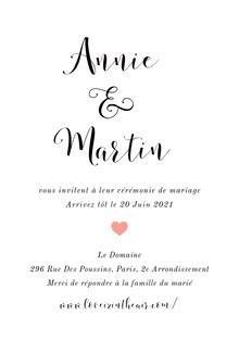 minimalistic wedding cards Carte de remerciement de mariage