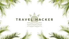 Green and White Travel Hacker Banner Vacation