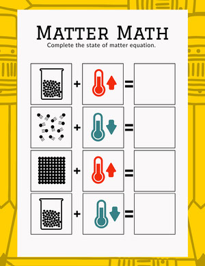 Yellow State of Matter Worksheet State of Matter Worksheet
