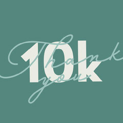 green white 10k followers thank you instagram square  Thank You Poster