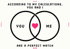 perfect match valentine card Heart