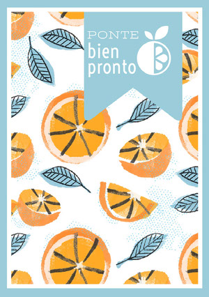 orange patterned get well soon cards  Tarjeta de recupérate pronto