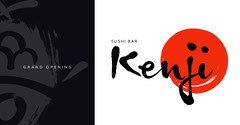 Black, White and Red Sushi Bar Facebook Cover Grand Opening Flyer