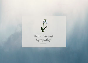 Blue and White With Deepest Sympathy Card Sympatikort