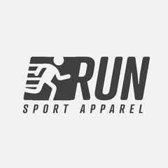 Grey Run Logo Sports
