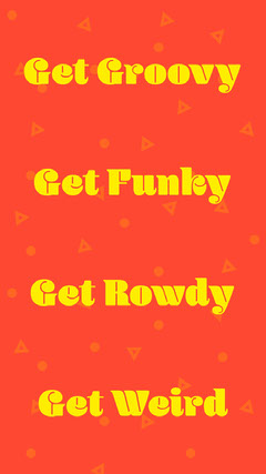 Bright Yellow and Red Retro 80s Style Inspirational Instagram Story Groovy