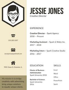 Beige Creative Director Resume Marketing