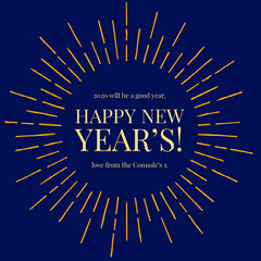 Navy and Gold Happy New Year Instagram Square with Beams New Year