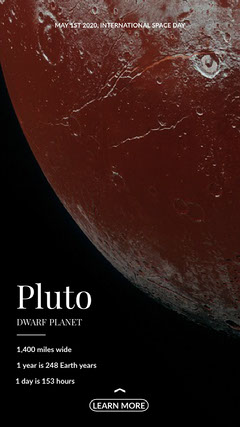 Pluto Instagram Story