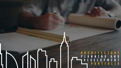 Blueprint Architecture Planning Portfolio Cover Architecture