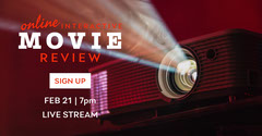 White and Red Movie Review Facebook Post Red