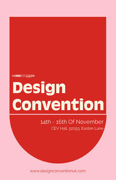 Red and Pink Geometric Shape Design Convention Poster Designer