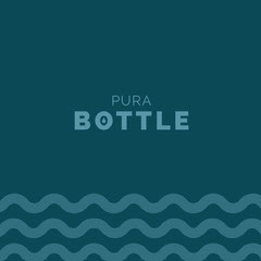 Blue Bottle Company Logo with Wave and Water Wave