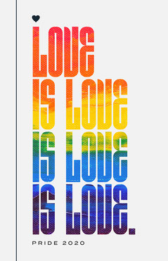 Light Toned, Rainbow Flag Love is Love Catchphrase, Poster Love