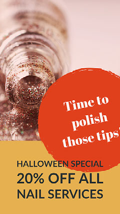 Orange and Gold Warm Toned Halloween Cosmetic Instagram Story  Cosmetic