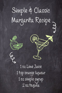 Blackboard with Illustrations Cocktail Recipe Pinterest Graphic Cocktails