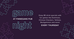Purple, White and Blue Game Night Event Ad Facebook Banner Game Night Flyer
