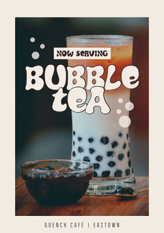 bubble tea cafe flyer  Drink