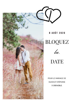 couples photo save the date card  Annonce de mariage