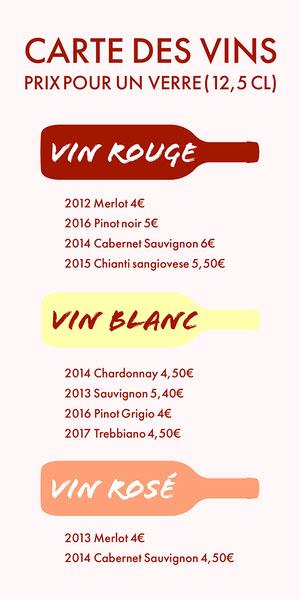Multicoloured Bottles Wine Menu  Menu
