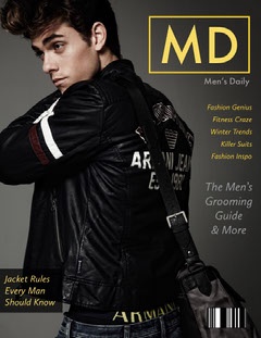 Black and Handsome Man Magazine Cover Fashion Magazines Cover