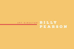 Orange and White Business Card Art