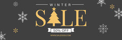 Grey, White and Yellow, Winter Sale Ad, Facebook Banner  Winter