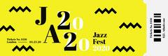 Yellow Zig Zag Jazz Music Festival Ticket Jazz