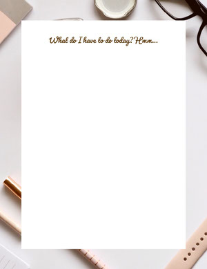 White and Empty Day Planner Planificateur